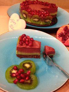 Gránátalmás zöldcitromos torta